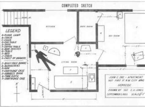 Sle Of Crime Scene Sketch Download Scientific Diagram Crime Sketch Template