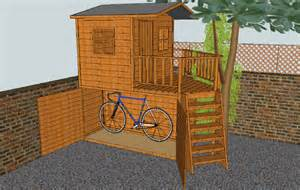 deliza bicycle rack for shed