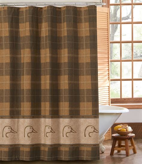 Ducks Unlimited Home Decor Ducks Unlimited Plaid Shower Curtain