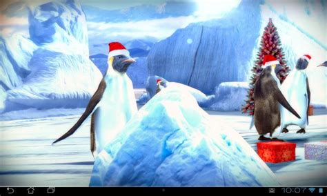 live wallpaper google edition christmas edition penguins 3d android apps on google play