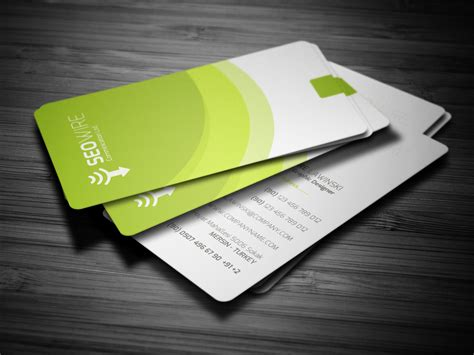 modern cards rounded modern business card by calwincalwin on deviantart