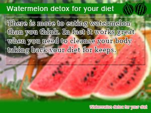 Can Detox Water Beused As Meal Replacements by Cleanse Starting On A Watermelon Detox Diet