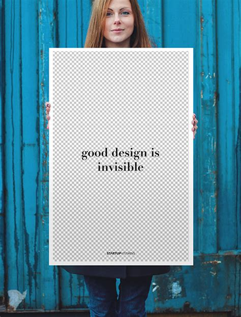 design is invisible poster quot good design is invisible quot startup vitamins