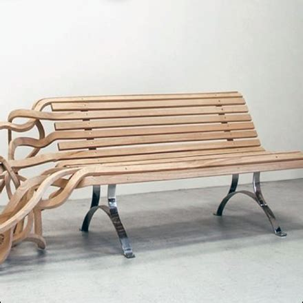 organic bench wood bench springs to life fixtures close up