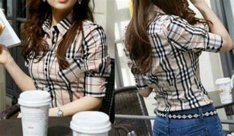 Baju Cewek Bahan Katun Ld 105 kemeja cewek zkm1105 baju wanita