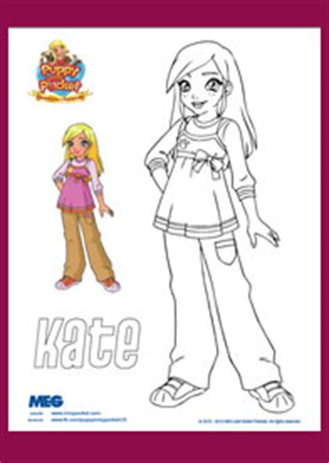 coloring pages puppy in my pocket puppy in my pocket coloring page kate