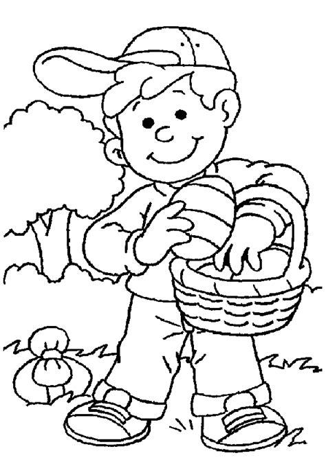 boy bunny coloring page coloriage paques enfant 9 sur hugolescargot com