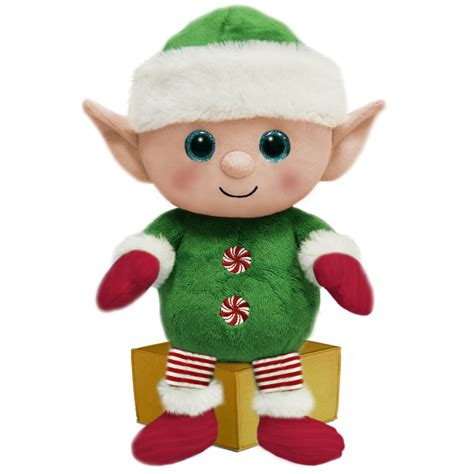 first and main 7 inch santa buddies elf plush toys