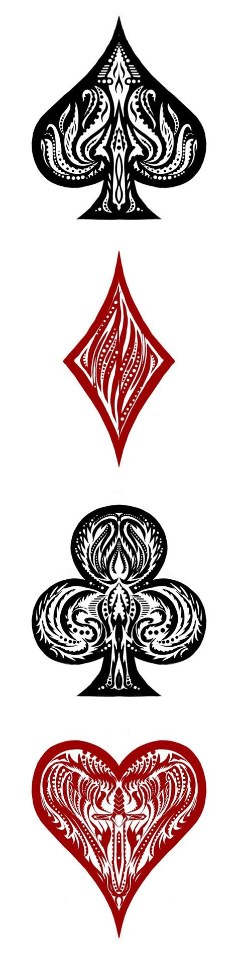 card tattoo designs design fill card suits souts tattoos designs
