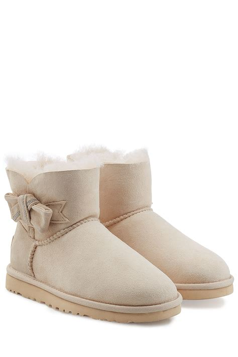 white ugg boots for ugg jackee embellished sheepskin boots white in white lyst