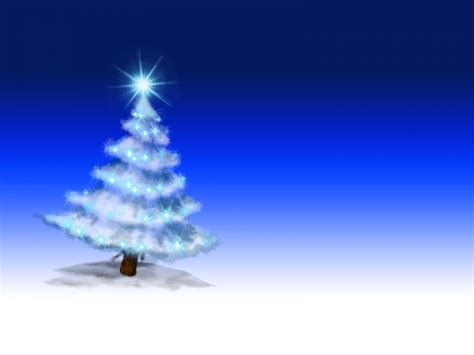 christmas tree on blue powerpoint ppt backgrounds blue