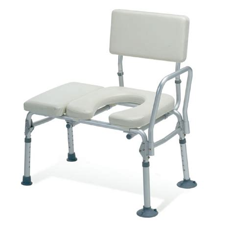 transfer bench with commode opening guardian padded transfer bench with commode opening