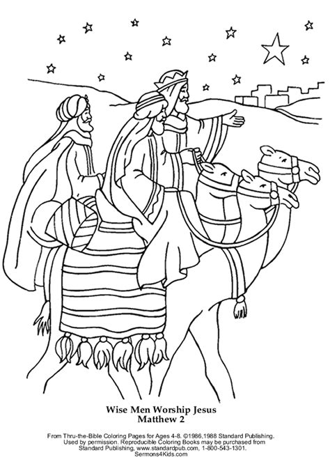Wisemen Coloring Page free coloring pages of jesus three wise