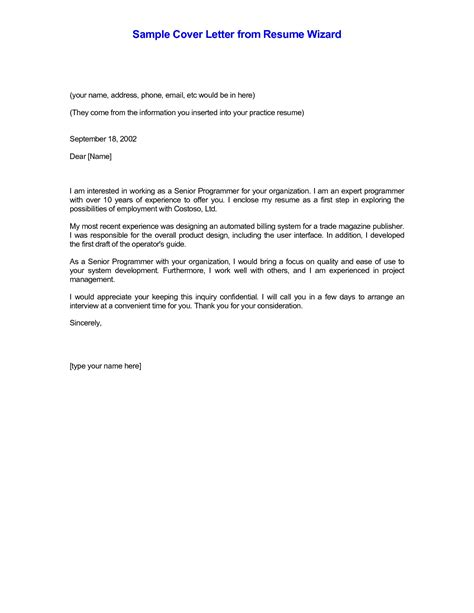 simple cover letter for cv resume cover letter sles resume cover letter exle