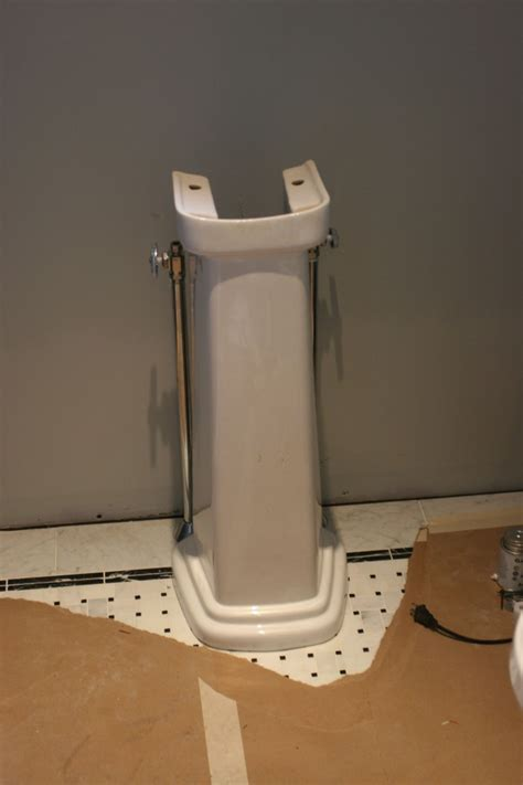Plumbing For A Pedestal Sink by Ohmygodwhathaveidone Do It Again