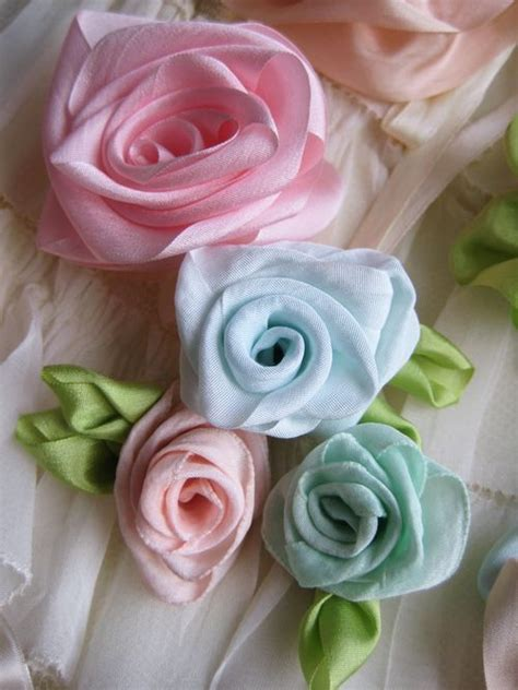 diy beautiful shabby ribbon flowers tutorial whether a single bloom or a cluster of fabric
