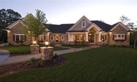 one story mansions exterior home ranch style house modern ranch style homes