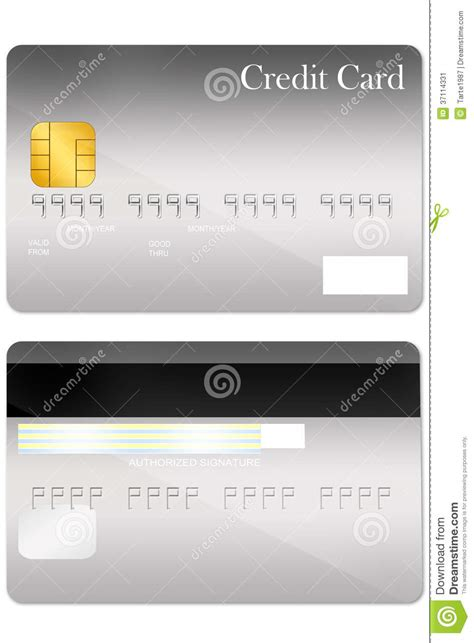 Credit Card Template Front And Back Front And Back Credit Card Template Stock Image Image 37114331
