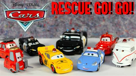 Rescue Car disney cars rescue go go squad set tomica vehicles