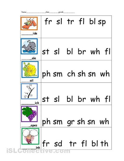 5 Letter Words Year circle the necessary sound blend ed phonics reading