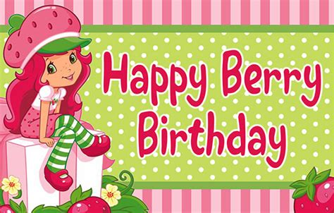 strawberry shortcake printable birthday banner strawberry shortcake birthday banner