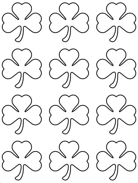 small template to print 20 best shamrock templates free premium templates