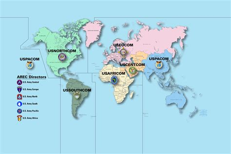 combatant command map arecs ensure us army reserve is engaged on the world stage