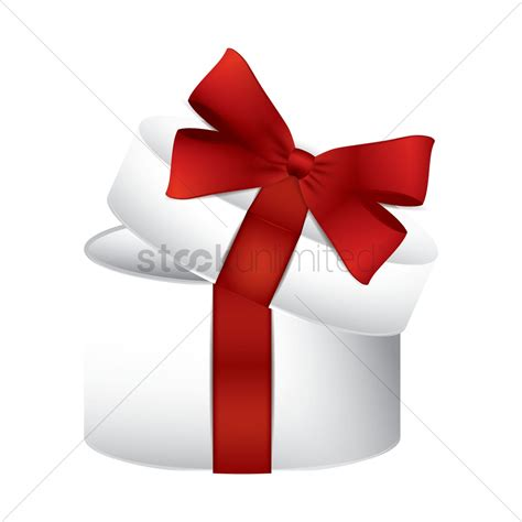 opened gift box with ribbon vector image 1934406
