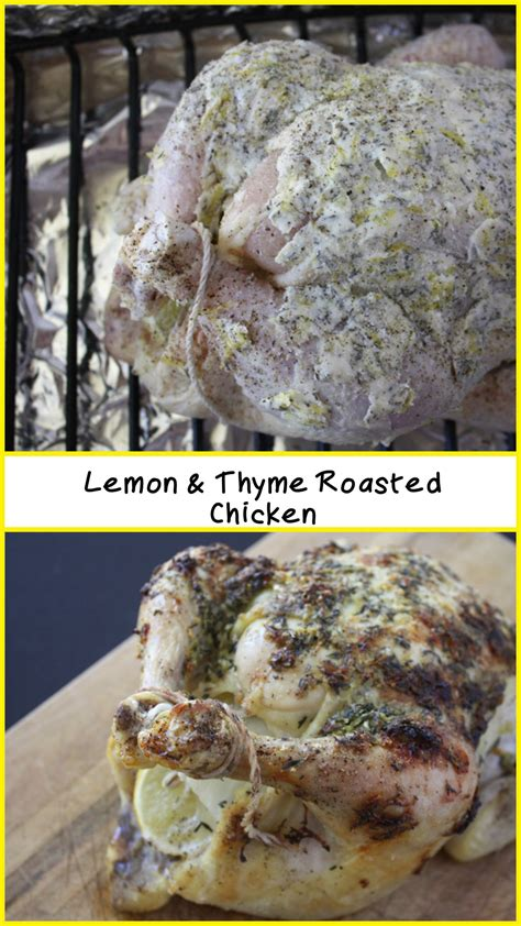 lemon thyme roasted chicken dont sweat  recipe