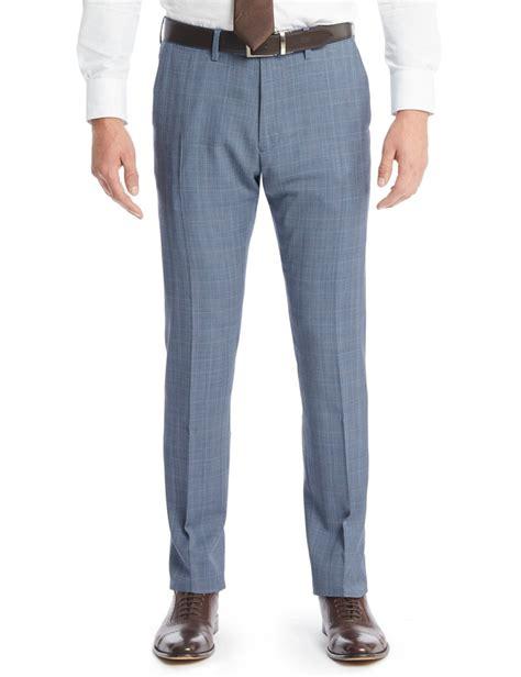 light blue slacks mens s light blue prince of wales check slim fit suit