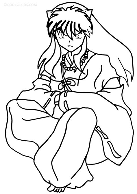 inuyasha coloring pages printable inuyasha coloring pages for cool2bkids