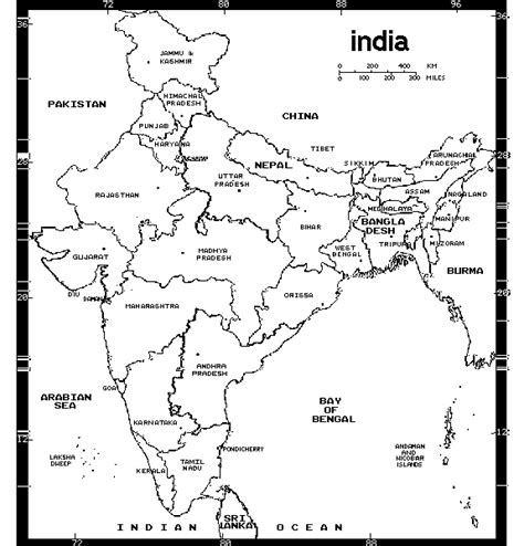 43 india map coloring pages free map of india