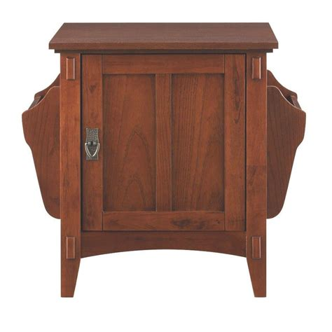 home decorators collection medium oak storage end table