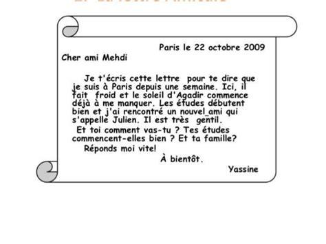 Un Exemple De Lettre Amicale La Lettre Amicale Carta Informal