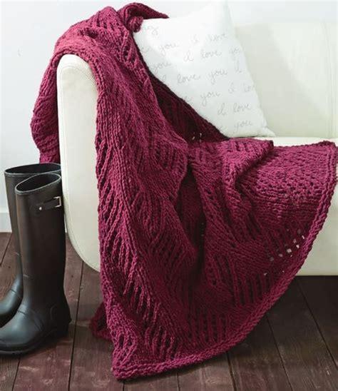 bernat afghan knitting patterns effortless cherry wine afghan allfreeknitting