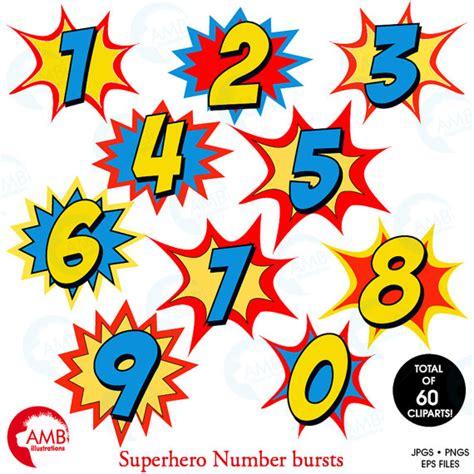 printable superhero numbers superhero numbers clipart numbers clipart numbers clipart