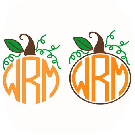 pumpkin monogram frame svg cuttable silhouette cricut