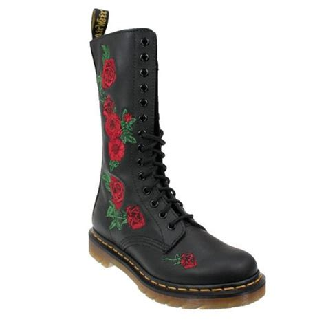 buy dr martens vonda womens blackleather embroidered