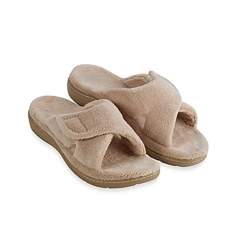 bed bath and beyond slippers buy orthaheel 174 relax women s tan slippers from bed bath