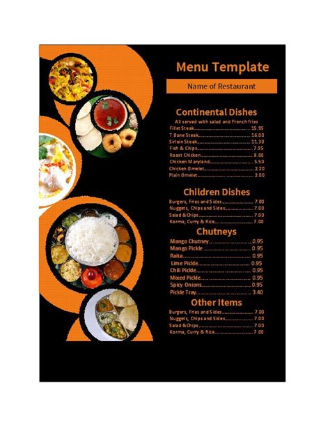30 Restaurant Menu Templates Designs ᐅ Template Lab Menu Template