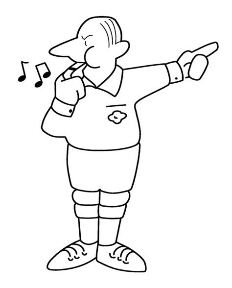 football referee coloring page umpire coloring page coloring pages