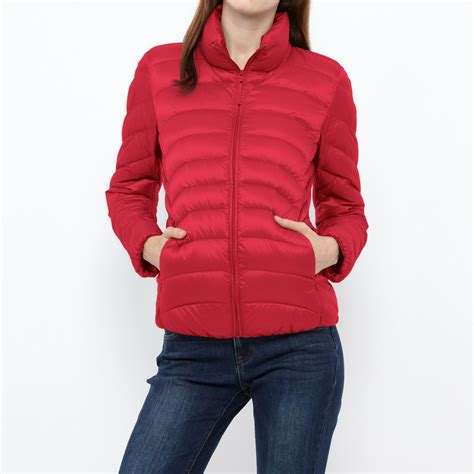 uniqlo light down jacket uniqlo women ultra light down jacket in red lyst