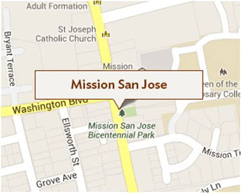 mission san jose on map mission san jose cfcs oakland
