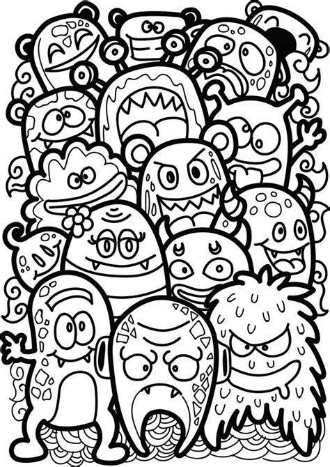 doodle cute monster    images graffiti