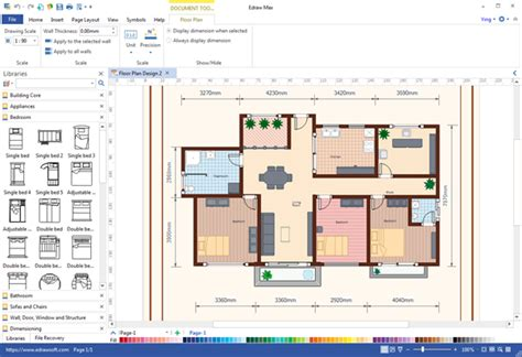 free floor plan maker by edrawsoft v 7 9 software