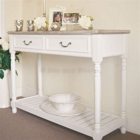 White Console Table   Bliss and Bloom Ltd