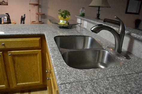 lazy granite tile for kitchen countertops our lazy granite sink kit in mint brown lazy granite in