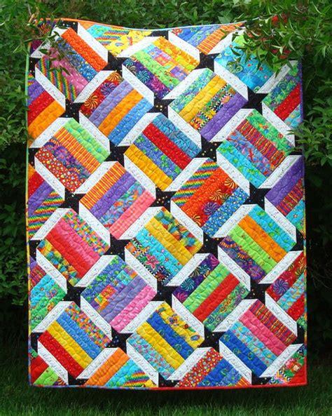 Scrap Quilt Patterns Scrappy Quilt Pattern Fast Easy S New Scraps