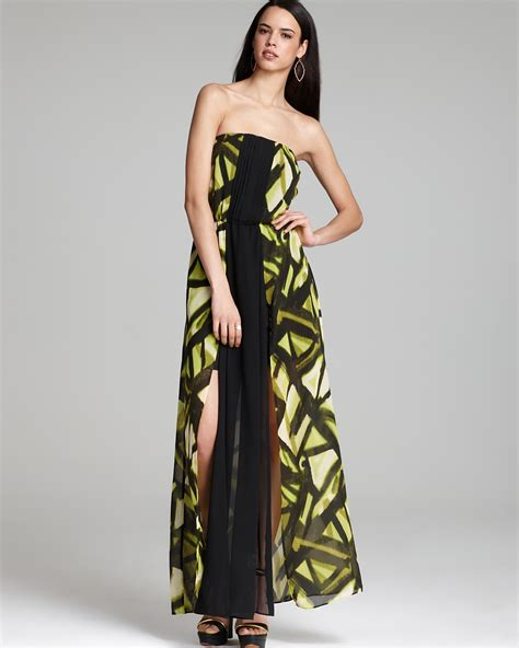 guess dress geo texture maxi bloomingdale s