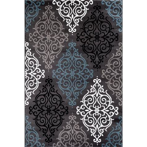 home world rugs world rug gallery modern transitional soft damask gray 7 ft 10 in x 10 ft 2 in indoor area